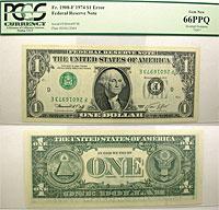 1974. $1. PCGS. Gem-66. PPQ. Federal Reserve Note.