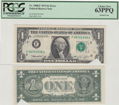 1974. $1. PCGS. Ch New-63. PPQ. Federal Reserve No