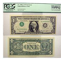 1974. $1. PCGS. Ch AU-55. PPQ. Federal Reserve Not